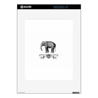 gray elephant beast iPad skins