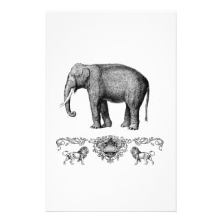 gray elephant beast stationery