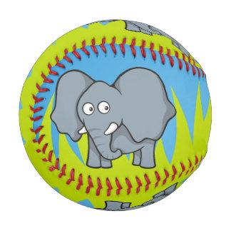Gray elephant cartoon baseball