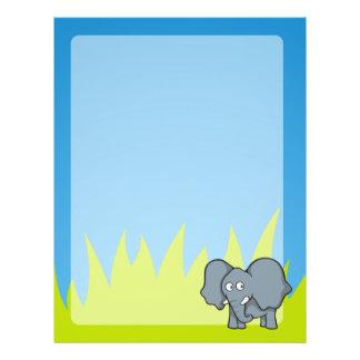 Gray elephant cartoon flyer