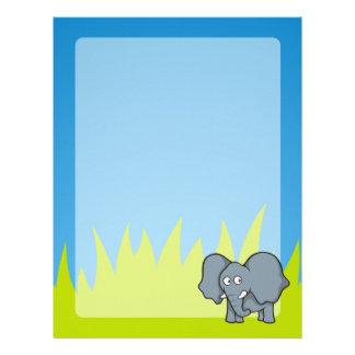 Gray elephant cartoon letterhead