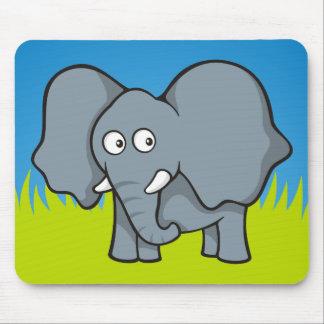 Gray elephant cartoon mouse pad