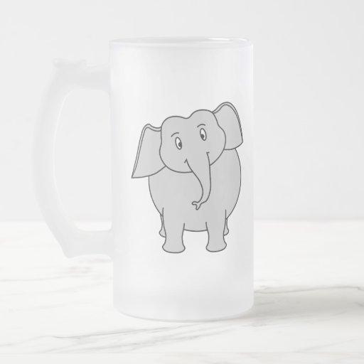 Gray Elephant. Coffee Mugs
