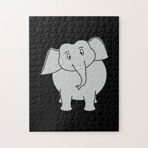 Gray Elephant. Jigsaw Puzzle