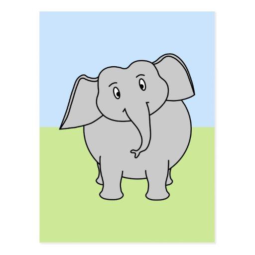 Gray Elephant Postcard
