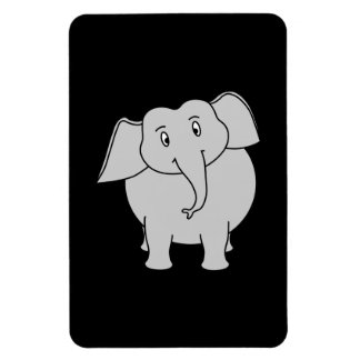 Gray Elephant. Rectangular Photo Magnet