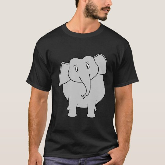 Gray Elephant. T-Shirt