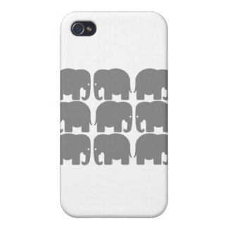 Gray Elephants Silhouette iPhone 4 Covers