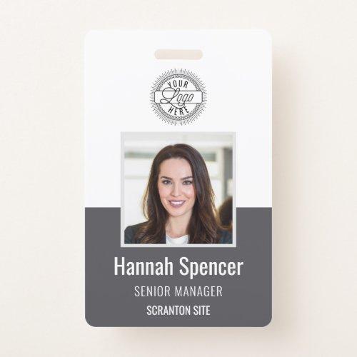 Gray   Employee Photo ID Company Security Badge