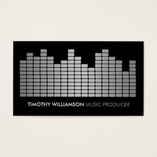 Gray Equalizer Musician, DJ, Band Business Card