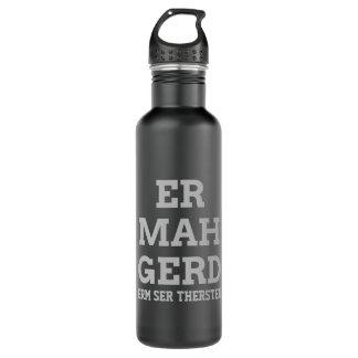 Gray Ermahgerd Water Bottle