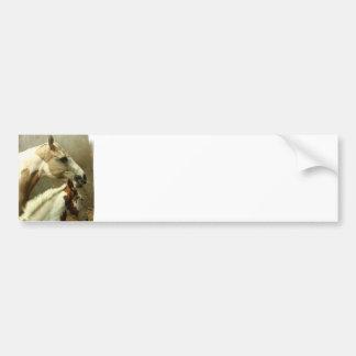 Gray Eventing Horse Bumper Sticker