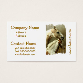 Gray Eventing Horse Business Cards
