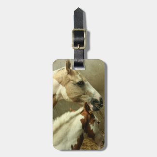 Gray Eventing Horse Luggage Tag