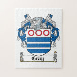 Gray Family Crest Jigsaw Puzzles