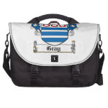 Gray Family Crest Laptop Bags