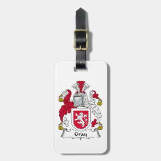 Gray Family Crest Tags For Luggage