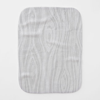 Gray Faux Bois Rustic Hand Drawn Wood Woodgrain Baby Burp Cloth