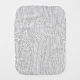 Gray Faux Bois Rustic Hand Drawn Wood Woodgrain Burp Cloths