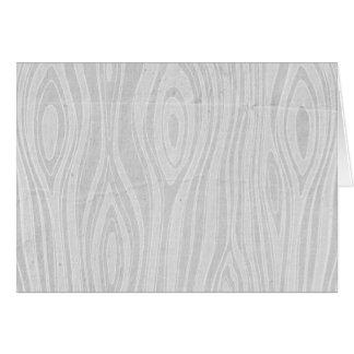 Gray Faux Bois Rustic Hand Drawn Wood Woodgrain Card
