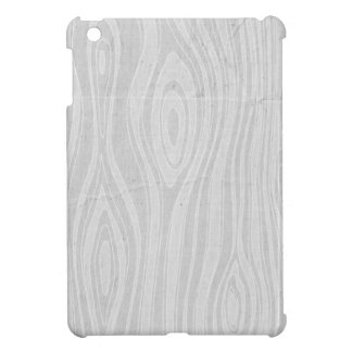 Gray Faux Bois Rustic Hand Drawn Wood Woodgrain iPad Mini Cases