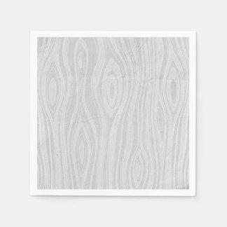 Gray Faux Bois Rustic Hand Drawn Wood Woodgrain Napkin