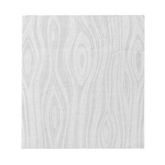Gray Faux Bois Rustic Hand Drawn Wood Woodgrain Notepad