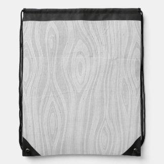 Gray Faux Bois Rustic Hand Drawn Wood Woodgrain Backpacks