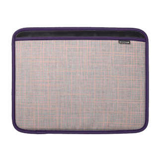 Gray Faux canvas checkers Macbook Air Sleeve