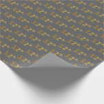 [ Thumbnail: Gray, Faux Gold 12th (Twelfth) Event Wrapping Paper ]