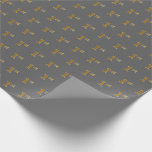 [ Thumbnail: Gray, Faux Gold 1st (First) Event Wrapping Paper ]
