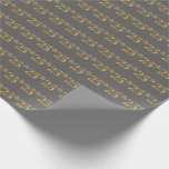 [ Thumbnail: Gray, Faux Gold 25th (Twenty-Fifth) Event Wrapping Paper ]