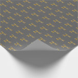 [ Thumbnail: Gray, Faux Gold 2nd (Second) Event Wrapping Paper ]