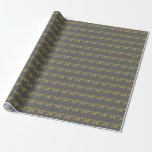 [ Thumbnail: Gray, Faux Gold 34th (Thirty-Fourth) Event Wrapping Paper ]