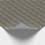 [ Thumbnail: Gray, Faux Gold 55th (Fifty-Fifth) Event Wrapping Paper ]