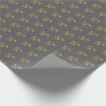 [ Thumbnail: Gray, Faux Gold 5th (Fifth) Event Wrapping Paper ]