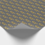 [ Thumbnail: Gray, Faux Gold 60th (Sixtieth) Event Wrapping Paper ]