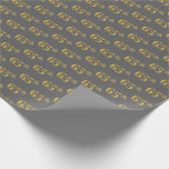 [ Thumbnail: Gray, Faux Gold 65th (Sixty-Fifth) Event Wrapping Paper ]