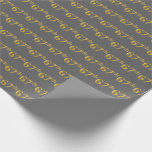 [ Thumbnail: Gray, Faux Gold 67th (Sixty-Seventh) Event Wrapping Paper ]