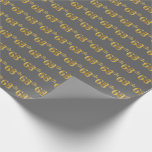 [ Thumbnail: Gray, Faux Gold 68th (Sixty-Eighth) Event Wrapping Paper ]