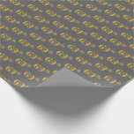 [ Thumbnail: Gray, Faux Gold 69th (Sixty-Ninth) Event Wrapping Paper ]