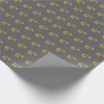 [ Thumbnail: Gray, Faux Gold 6th (Sixth) Event Wrapping Paper ]