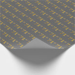 [ Thumbnail: Gray, Faux Gold 71st (Seventy-First) Event Wrapping Paper ]