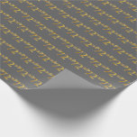 [ Thumbnail: Gray, Faux Gold 72nd (Seventy-Second) Event Wrapping Paper ]