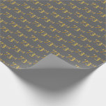 [ Thumbnail: Gray, Faux Gold 73rd (Seventy-Third) Event Wrapping Paper ]