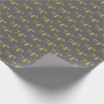 [ Thumbnail: Gray, Faux Gold 74th (Seventy-Fourth) Event Wrapping Paper ]