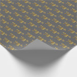 [ Thumbnail: Gray, Faux Gold 78th (Seventy-Eighth) Event Wrapping Paper ]