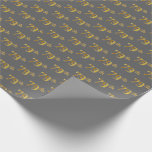 [ Thumbnail: Gray, Faux Gold 79th (Seventy-Ninth) Event Wrapping Paper ]
