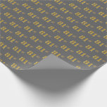 [ Thumbnail: Gray, Faux Gold 81st (Eighty-First) Event Wrapping Paper ]