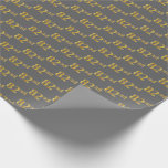 [ Thumbnail: Gray, Faux Gold 82nd (Eighty-Second) Event Wrapping Paper ]